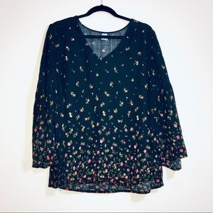 Old Navy Floral Bell Sleeve Blouse - #1413